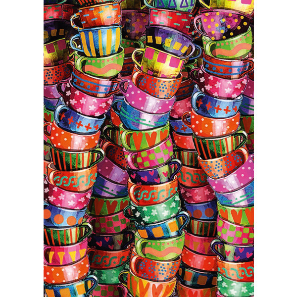 Colourful Cups - 500pc jigsaw puzzle
