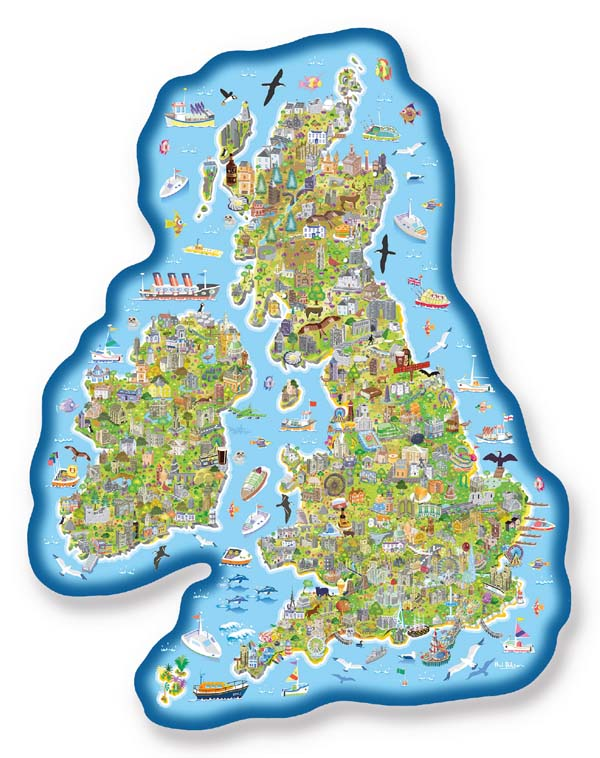 Map Of Uk Jigsaw.Britain And Ireland Jig Map Jigsaw Puzzle From Jigsaw Puzzles Direct
