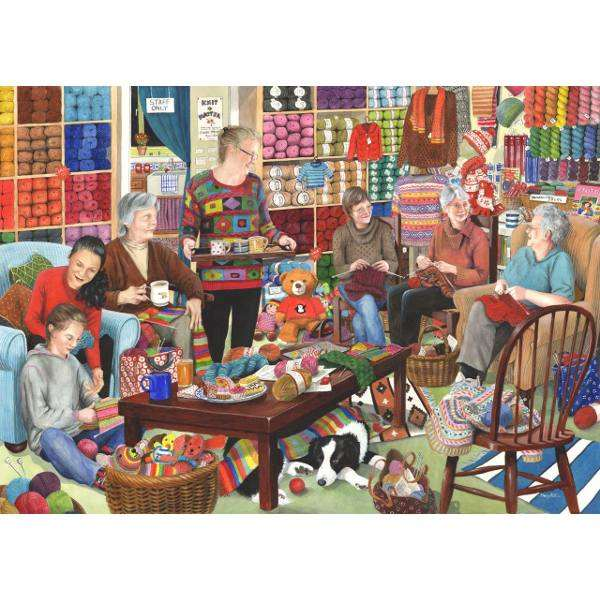 Knit and natter jigsaw puzzle from jigsaw puzzles direct order today