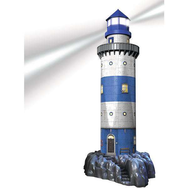 Lighthouse at Night 3D Puzzle jigsaw puzzle