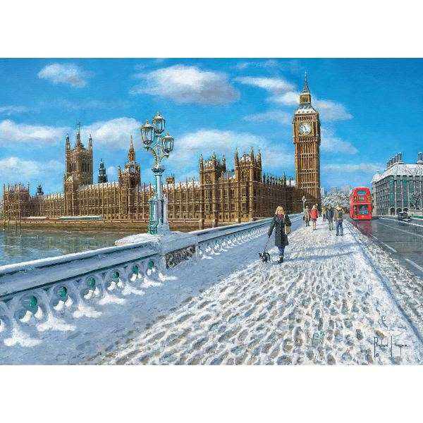 London - Promenade in the Snow -1000pc jigsaw puzzle