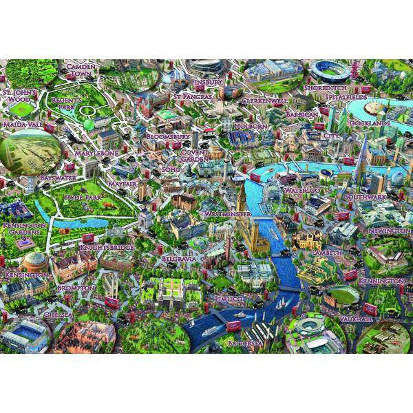 Map of London - 1000pc jigsaw puzzle