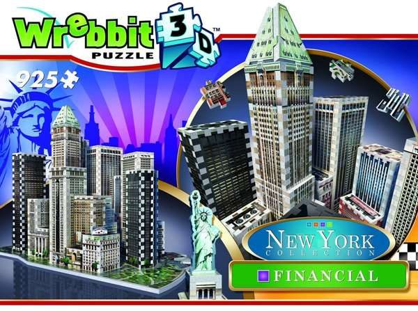 New York City - Financial District - 3D Puzzle jigsaw puzzle