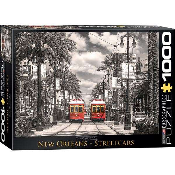 New Orleans Streetcars - 1000pc jigsaw puzzle