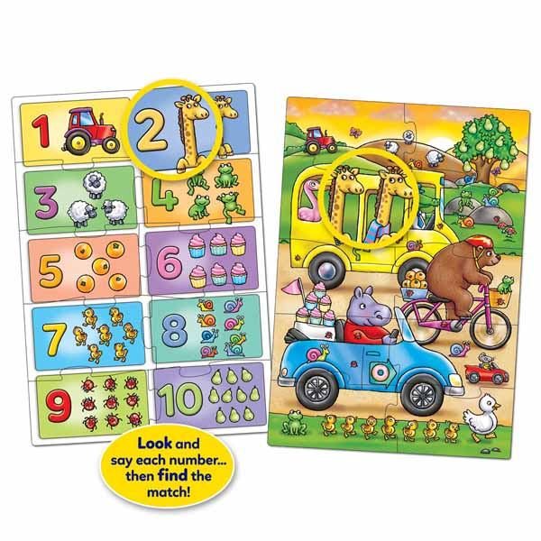 Orchard Toys - Look And Find - Number jigsaw puzzle