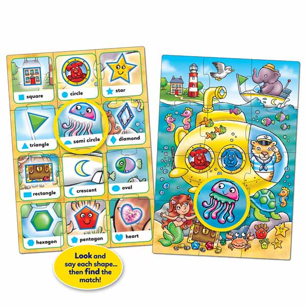 Orchard Toys - Look and Find Shapes - 2 x 12pc jigsaw puzzle