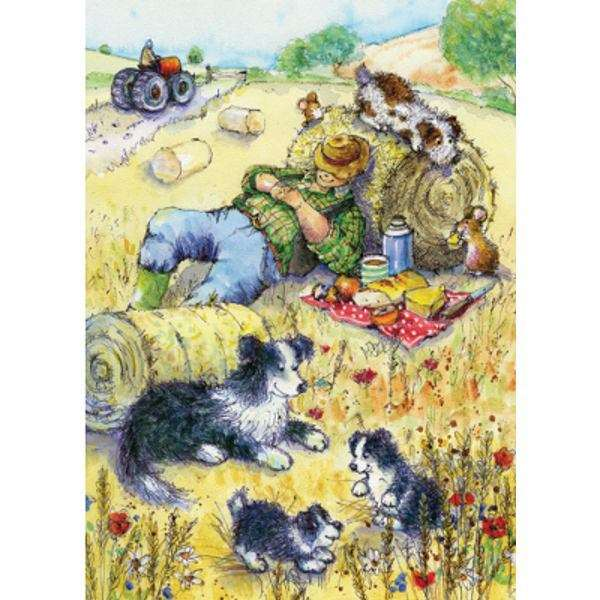 The Hay Fields Border Collie & Farm jigsaw puzzle
