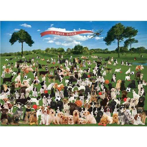 Summer Dogs - 1000pc jigsaw puzzle