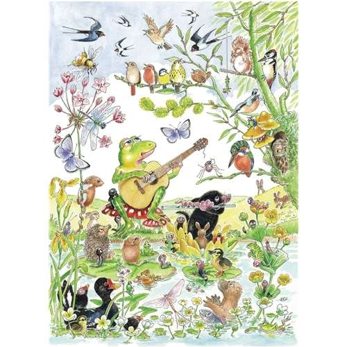 Round The Pond - 1000pc jigsaw puzzle