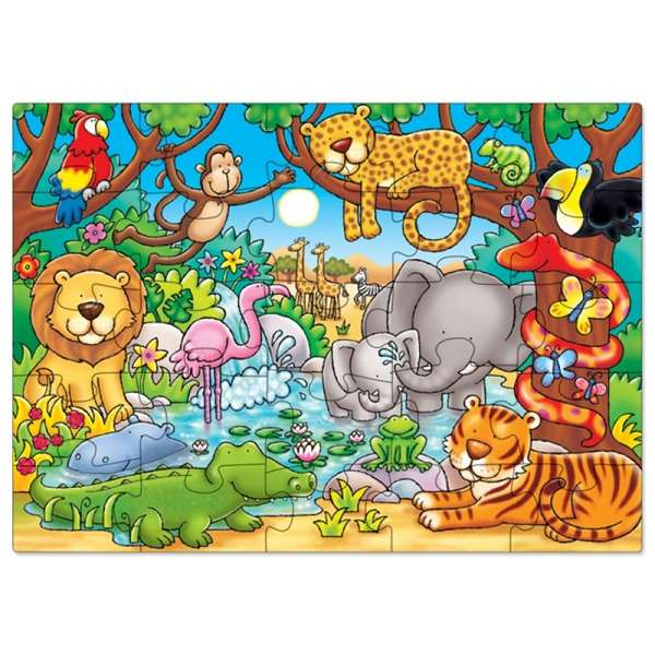 Whos In The Jungle jigsaw puzzle