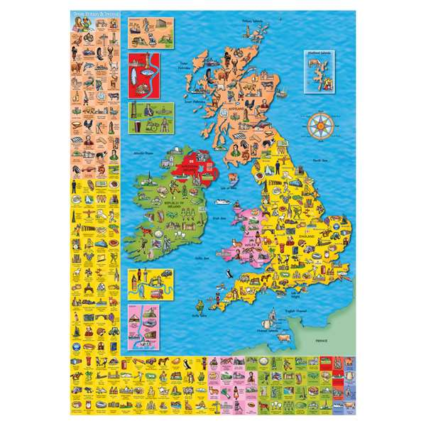 Great Britain & Ireland Map jigsaw puzzle