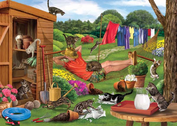 Garden Cats - 1000pc jigsaw puzzle