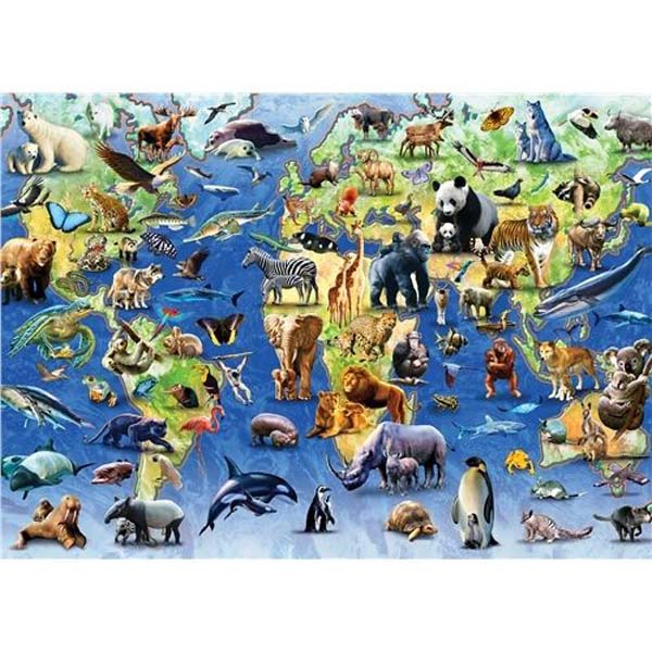 Endangered Animals - 1000pc jigsaw puzzle
