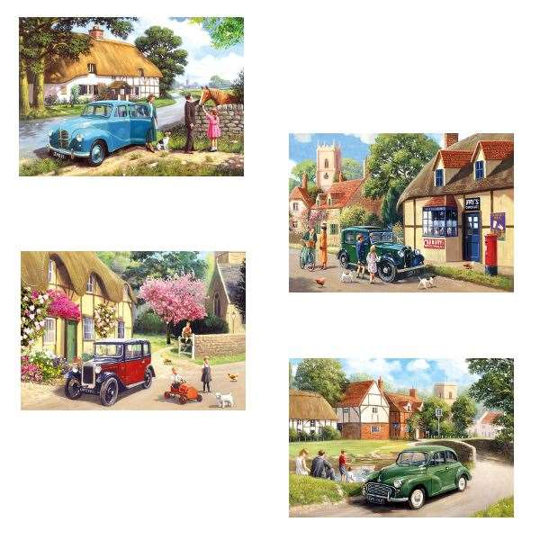Out And About - 4 x 500 jigsaw puzzle