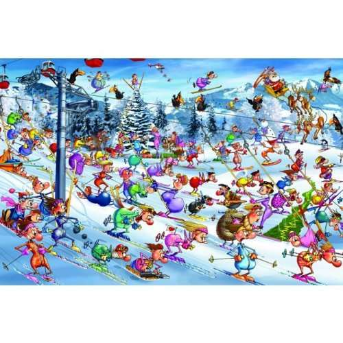 Christmas Skiing jigsaw puzzle