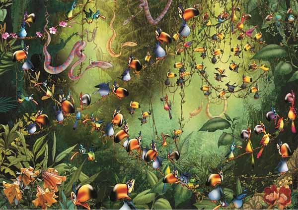 Jungle Birds - Toucans - 1000pc jigsaw puzzle