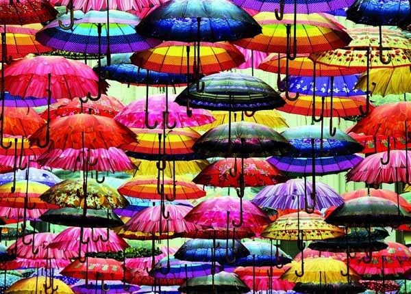 Colourful Umbrellas - 1000pc jigsaw puzzle
