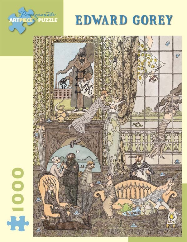 Edward Gorey - Frawgge Mfrg Co - 1000pc jigsaw puzzle