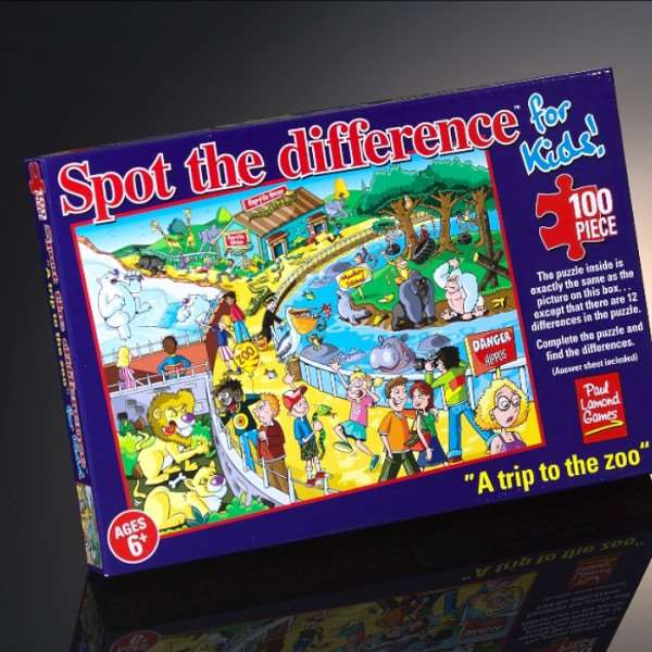 Spot the Difference - A trip to the Zoo - 100pc jigsaw puzzle