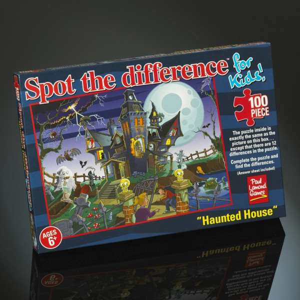 Spot the Difference - Haunted House - 100pc jigsaw puzzle