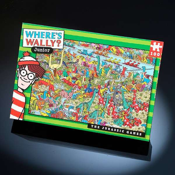 Wheres Wally - Jurassic Games - 100pc jigsaw puzzle