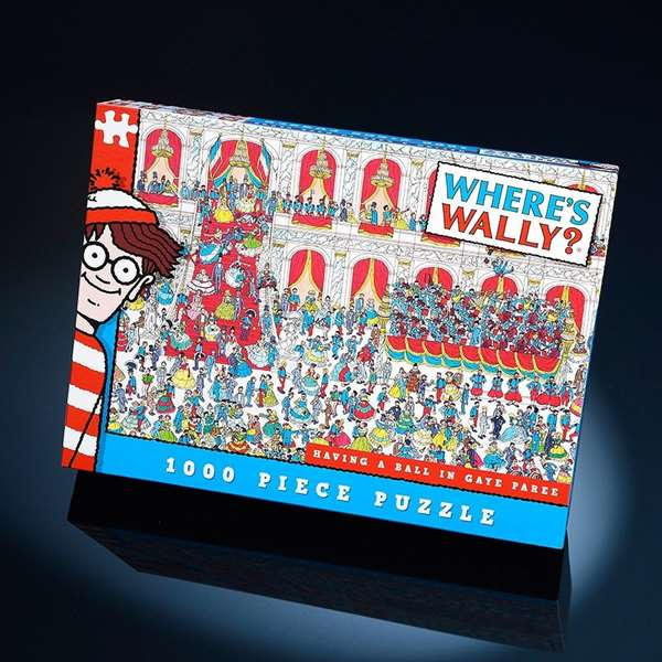 Wheres Wally - Having a Ball in Gaye Paree - 1000pc jigsaw puzzle