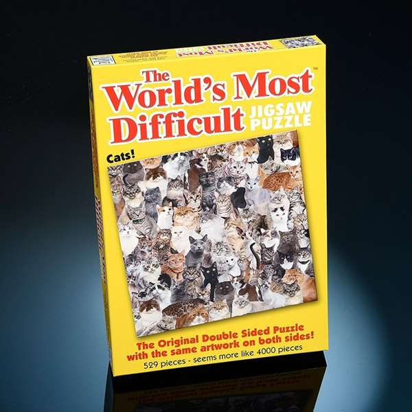 Worlds Most Difficult - Cats - 529pc jigsaw puzzle