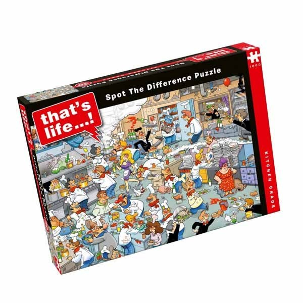 Thats Life - Spot the Difference - Kitchen Chaos - 1000pc jigsaw puzzle