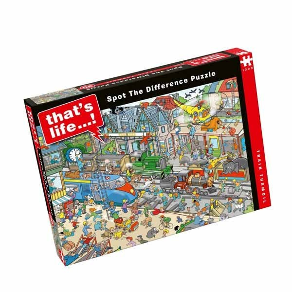 Thats Life - Spot the Difference - Train Turmoil - 1000pc jigsaw puzzle