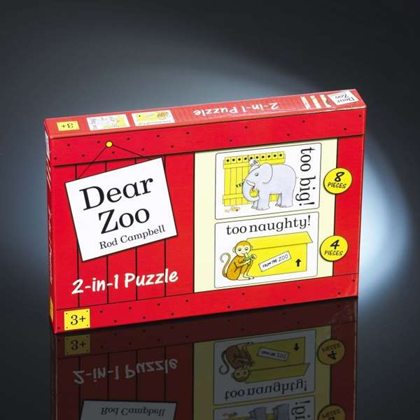 Dear Zoo - 2 in 1 jigsaw puzzle