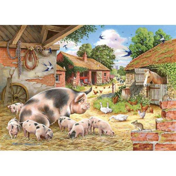 Poppys Piglets - Big 500pc jigsaw puzzle