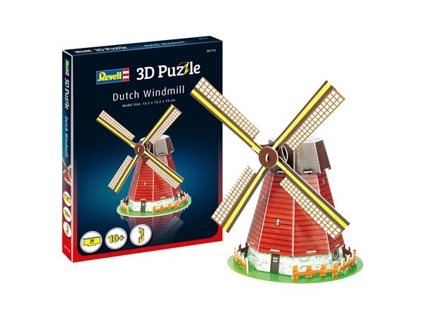 REVELL - Dutch Windmill - 3D Puzzle - 20pc jigsaw puzzle