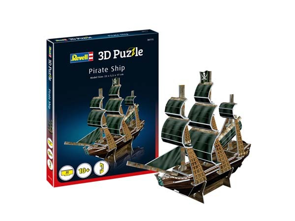 REVELL - Pirate Ship - 3D Puzzle - 24pc jigsaw puzzle