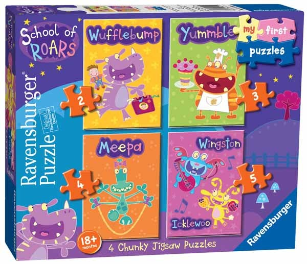 School of Roars - 4 in 1 jigsaw puzzle
