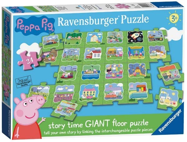 Peppa Pig Tell A Story Giant Puzzle 24pc Jigsaw
