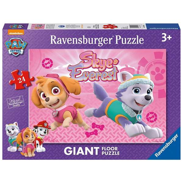 Paw Patrol Skye And Everest 24pc Giant Floor Puzzle