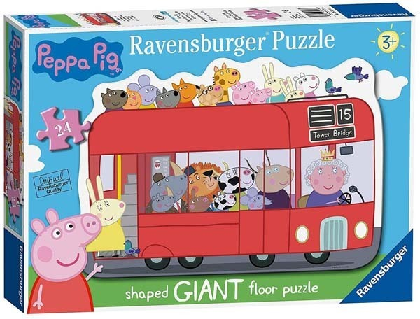 Peppa Pig - Giant Shaped Puzzle - 24pc jigsaw puzzle