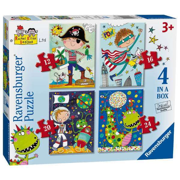 Rachel Ellen - Amazing Adventures - 4 in 1 jigsaw puzzle