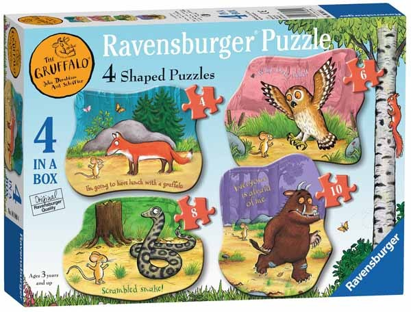 The Gruffalo - Shaped - 4 in 1 jigsaw puzzle