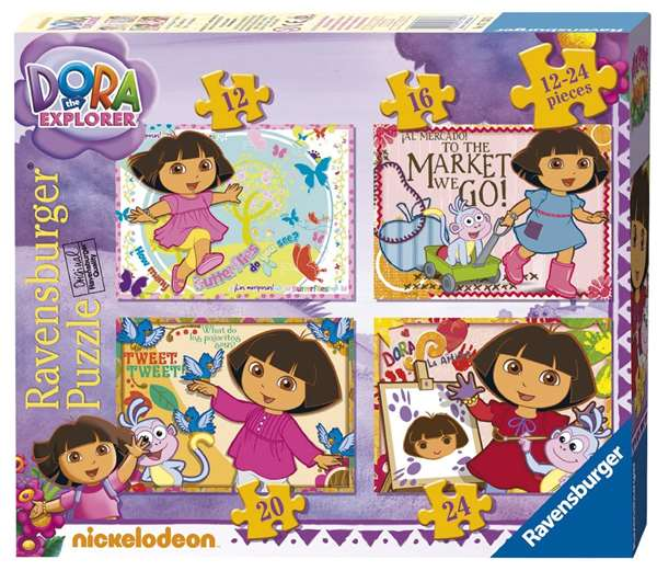Dora 4 In A Box jigsaw puzzle