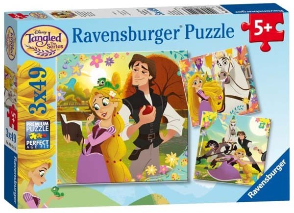 Tangled - 3 x 49pc jigsaw puzzle
