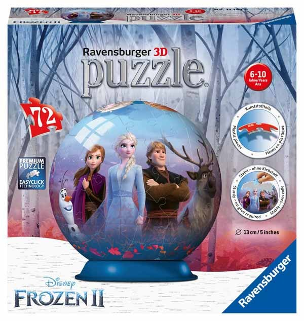 Disney Frozen II - 3D Puzzle Ball - 72pc jigsaw puzzle