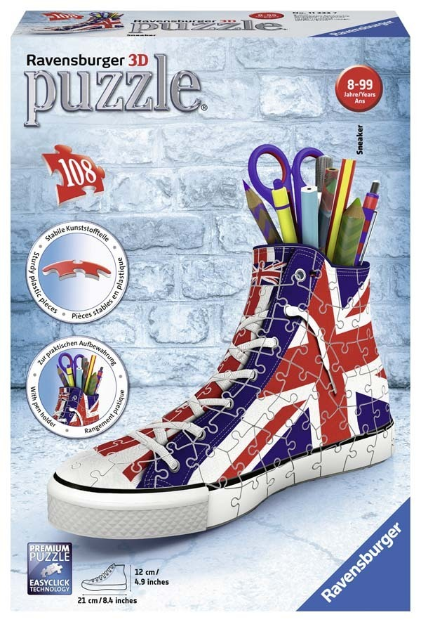 British Flag Sneaker - 3D Puzzle - 108pc jigsaw puzzle
