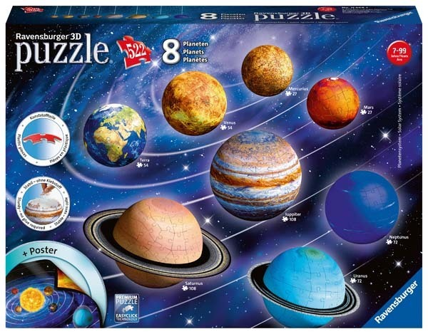 Solar System - Eight 3D Puzzles jigsaw puzzle