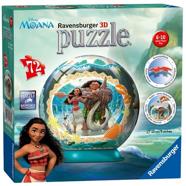 Disney - Moana - 3D Puzzle Ball - 72pc jigsaw puzzle