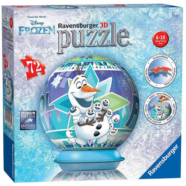 Frozen Puzzle Ball - Olaf - 72pc jigsaw puzzle