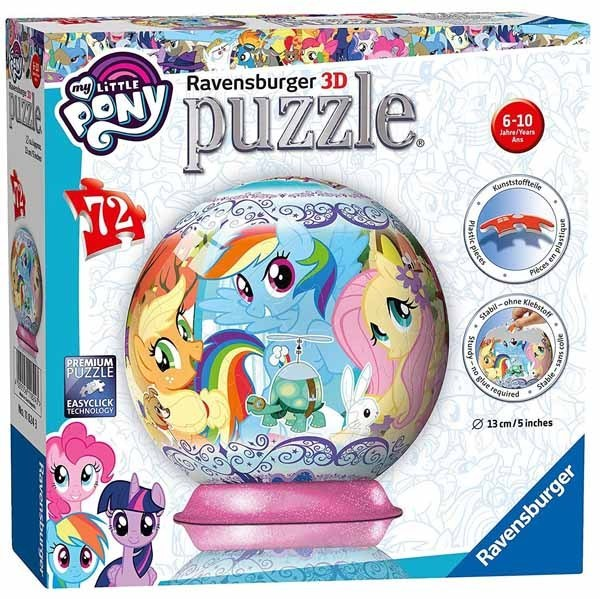 My Little Pony - 72 Piece 3D Puzzle Ball jigsaw puzzle