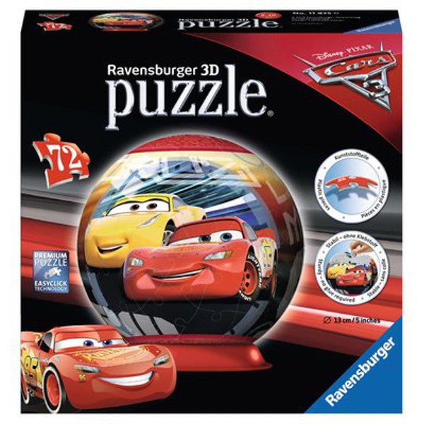 Cars 3 - 72pc 3D Puzzle Ball jigsaw puzzle