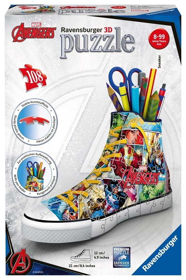 Marvel Avengers - Comic Book Sneaker - 108pc 3D Puzzle jigsaw puzzle