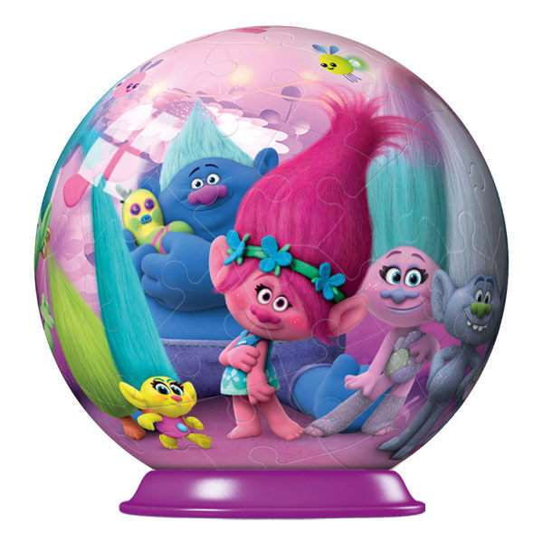 Trolls 3D Puzzle Ball - 72pc jigsaw puzzle